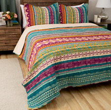 King Size Bedding Southwest Quilt Set for Girls Greenland Home Cotton Reversible