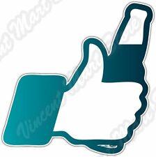 "I Like Beer Social Media Facebook Funny Car Bumper Vinyl Sticker Decal 4""X5"""