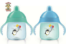 Avent Penguin Sippy Cup / Spout Cup, 9 oz, 12m+, Blue & Green, 2 Pack, BPA Free
