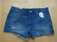 Levis 501 Hot Pants W32 Used Look