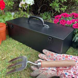 British Made Steel Tool Box - Matt Black - Great gift idea