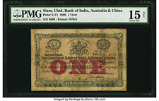 Siam Chartered Bank of India Australia and China 1 Tical 1898 Pick S111 PMG 15