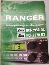 Deutsche Bedienungsanleitung für RANGER RCI-2950 DX / RCI-2970 DX Funkgeräte