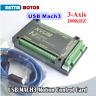 3 Axis USB Mach3 NVUM 200KHZ CNC Controller Motion Control Card Stepper Motor