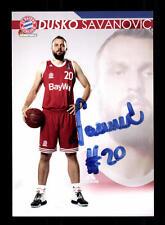 Dusan Savanovic Autogrammkarte Bayern München Original Signi Basketball+A 164025