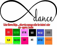 Dance Decal Sticker for your Car Window Laptop Bumper in Color Black