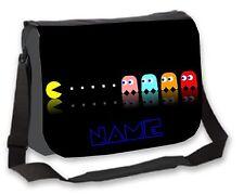Boys Gamers Pac Man Bag Personalised College / Messenger / School / Laptop Bag