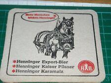 sottobicchiere beer mats birra bierdeckel henninger export bier hb