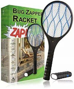 Brand New Bug Zapper Racket Rechargeable w/ Detachable Flash Light