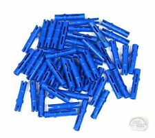 LEGO Technic - 3L Pin w/ Friction Ridges x 50 - Blue - New - (EV3 NXT Connector)