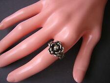 """Antiker 800 Silber Ring """"Rose/Blume"""" 3,0 g / RG 50/51"""