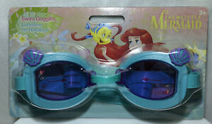 Disney The Little Mermaid Ariel Kids Swim Goggles with Sea Shell Design New