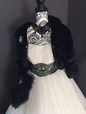 Robe De Mariée Tulle IvoirDentelle Noire Taille 42 De Marque Sposa.Bustier Satin