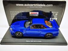 AutoArt 1:18 77354 Nissan Skyline GTR GT-R R34 Z-tune NISMO Bayside Blue Top OVP