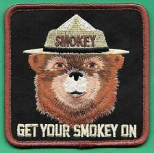 """USFS US Forest Service NEW 2012 """"Get Your Smokey On"""" 3 1/2"""" Cloth Patch"""