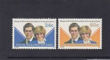 COCOS Islands 1981 ROYAL WEDDING Prince Charles & Diana design set  of 2 MNH