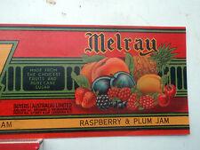 Melray Raspberry & Plum   Jam  paper label Australian