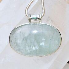 Aquamarin Anhänger, 925er Silber, Edelsteinanhänger (11860),Edelsteinschmuck