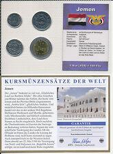 Jemen / YEMEN - KMS 4 Münzen 1993-2004 - UNC Satz mit BTN Zertifikat