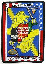 USN VFA-32 OPERATION ENDURING FREEDOOM JULY 2013 TO APRIL 2014 PATCH