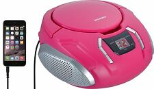 small portable cd player outdoor radio for girls pink