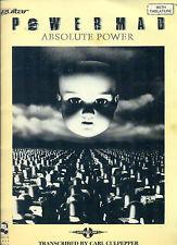 Powermad Absolute Power songbook Guitar Tab Tablature music song book Bob Hill