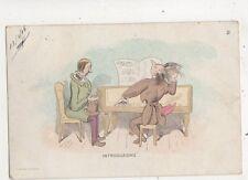 Introduzione Piano Music Dotesio Barcelona Spain 1905 Comic Advert Postcard 631b