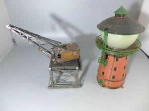 HO Dockside Crane & Water Tower