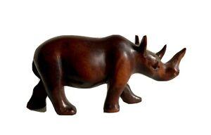 Rinoceronte di Legno 10x20 cm