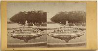 Parc da Versailles Bassin da Latona Fotografia Stereo Vintage Albumina c1865