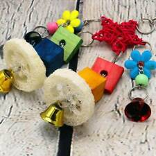 New listing Pet Bird Parrot String Stand Swing Hanging Bite Toy Chewing Toy H