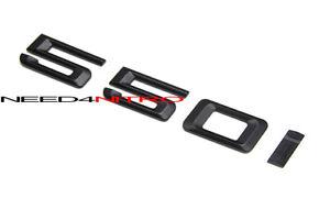 For BMW 5-Series 550i Trunk Lid Logo Emblem Matte Black Letter Sticker Decal