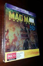 Mad Max Fury Road Steelpak Steelbook 3d BLURAY Action OOP Hardy Blu-ray