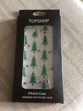 NEW IN PACKAGING TOPSHOP CHRISTMAS TREES IPHONE 5 & 5s SHELL CASE