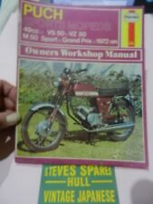 PUCH VS50,VZ50,M50 SPORT,GRAND PRIX ,1972-ON    OWNERS WORKSHOP MANUAL NOS.