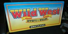 1990S BRITAINS WILD WEST COWBOYS & INDIANS 2 SIDED CARDBOARD DEALERS SIGN