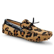 Animal Print Moccasins Standard Width (B) Slippers for Women