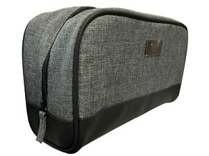 Hugo Boss Mens Canvas Travel Toiletry Wash Bag in Grey