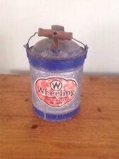 VINTAGE Wheeling Corrugating Co. W. VA. No. 101 Gas Can with Wooden Handle