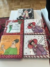 Cocktail Napkins - 5 Assorted Whimsical Sayings NEW