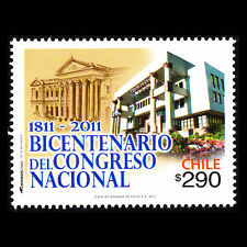 """Chile 2011 - Architecture """"View of the Old and New Congress"""" - Sc 1571 MNH"""