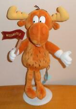 """Rocky and Bullwinkle and Friends Large 15"""" Beanbag Plush Stuffed Toy"""