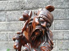 Chinese wooden carving - 20th century fine carving - large important figure