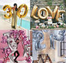 "Huge 40"" Gold/Silver Alphabet Letter&Number Foil Balloons Wedding Birthday Party"