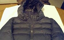 TOMMY HILFIGER JACKET MENS XL GRAY ZIP UP HOODED LONG SLEEVE COAT $215