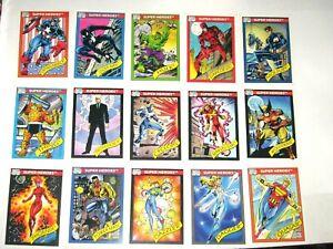 1990 MARVEL UNIVERSE SERIES 1 COMPLETE 162 CARD SET NM! STAN LEE! SPIDER-MAN!