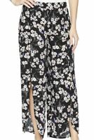 NWT Mod-O-Doc Womens Printed Rayon Tulip Hem Pull-On Cropped Pants Black Size L