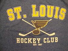 NHL St. Louis Blues National Hockey League Fan Stretch Polyester Blue T Shirt S