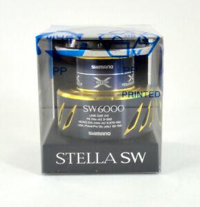 NEW 20' GENUINE SHIMANO STELLA SW C 6000 SPOOL FIT 5000 XG/HG/PG *U.S SELLER*