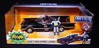 BATMAN Classic TV Series 1966 BATMOBILE w Action Figure DC Comics Die Cast Metal